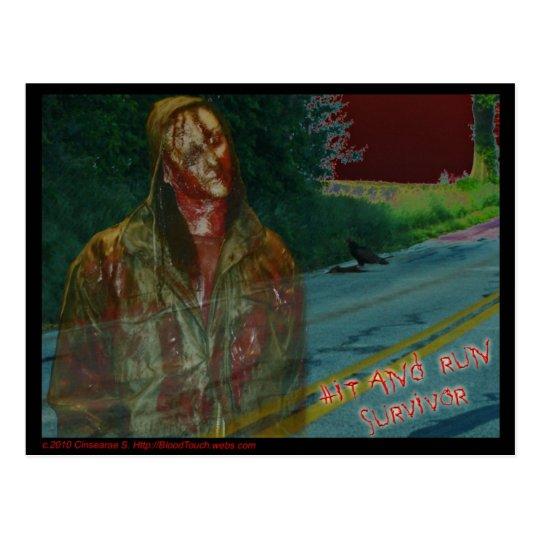 HIT AND RUN SURVIVOR postcard