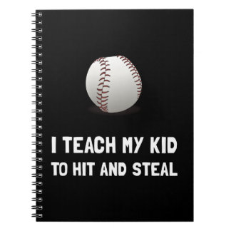 Hit And Steal Baseball Spiral Notebook