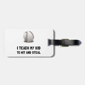 Hit And Steal Baseball Tag For Luggage