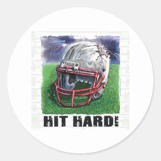 Hit Hard! Helmet Sticker