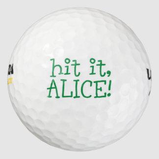 Hit It, Alice! Pack Of Golf Balls
