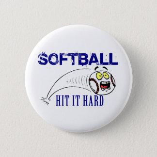 Hit It Hard Softball Button