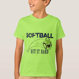 Hit It Hard Softball T-Shirt