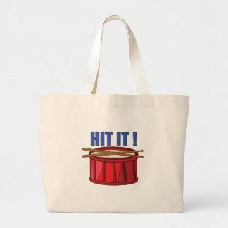 Hit It Large Tote Bag