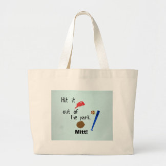 Hit it out of the park, Mitt 2012 Large Tote Bag