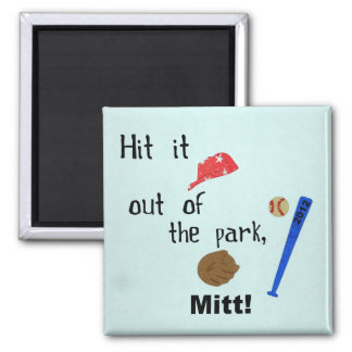 Hit it out of the park, Mitt 2012 2 Inch Square Magnet
