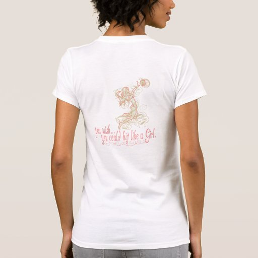 Hit Like a Girl Beach Volleyball by Mudge Studios Shirts
