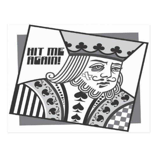 Hit Me Again Postcard