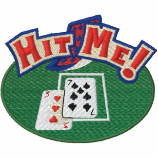 Hit Me Cards Embroidered Shirt