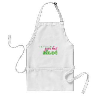 Hit me with your best shot! adult apron