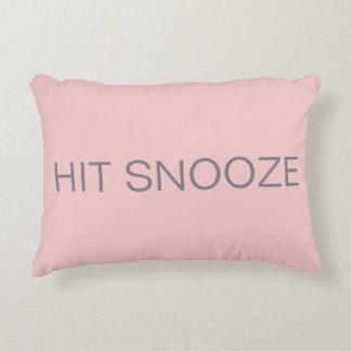 Hit Snooze - Rose Quartz Decorative Pillow