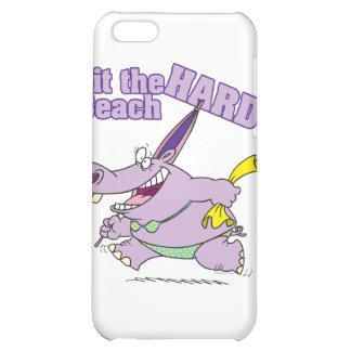 hit the beach hard funny bikini hippo iPhone 5C covers