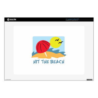 """Hit the Beach Decals For 15"""" Laptops"""