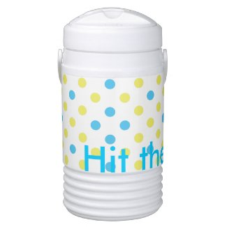 Hit the Beach Summer Time Aqua Polka Dots