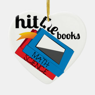 Hit The Books Ceramic Ornament