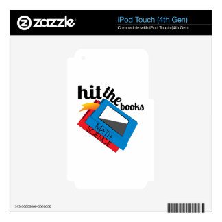 Hit The Books Decals For iPod Touch 4G