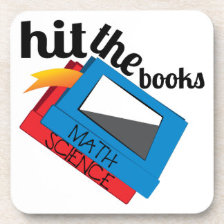 Hit The Books Drink Coaster