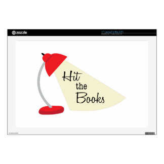 """Hit The Books 17"""" Laptop Decal"""