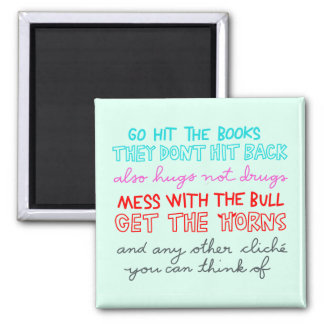 hit the books -- they don't hit back magnet