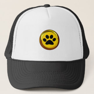 HIT THE 'PAWS' BUTTON (Get it! Pause Button!) ~ Trucker Hat