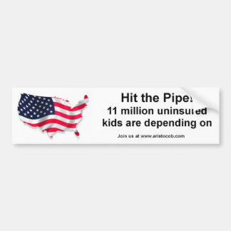 Hit the Pipe Uninsured children Sticker