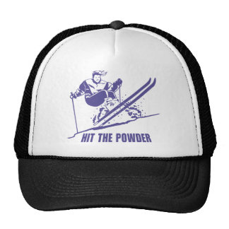 Hit The Powder - Snow Skiing / Skier Trucker Hats