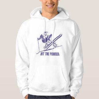 Hit The Powder - Snow Skiing / Skier Hoodie