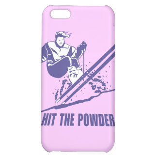 Hit The Powder - Snow Skiing Skier iPhone 5C Cases