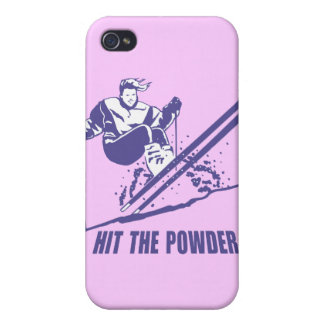 Hit The Powder - Snow Skiing Skier iPhone 4/4S Cover