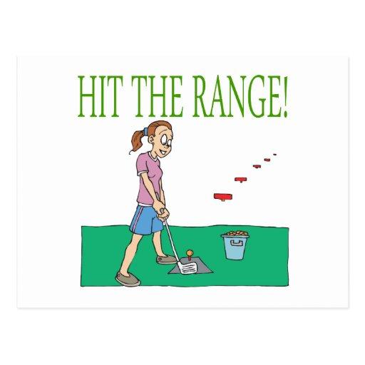 Hit The Range Postcard