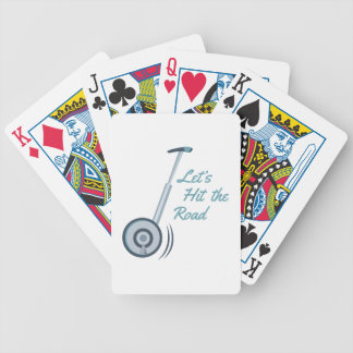 Hit The Road Bicycle Playing Cards