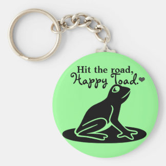 Hit The Road, Happy Toad Cute Green Key Chain