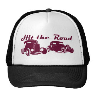 Hit the Road - Hot Rods flat burgundy Trucker Hat