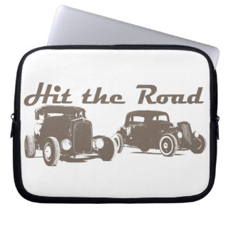 Hit the Road - Hot Rods original design brown Computer Sleeves