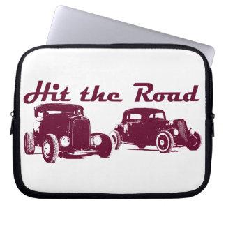 Hit the Road - Hot Rods original design burgundy Laptop Sleeves