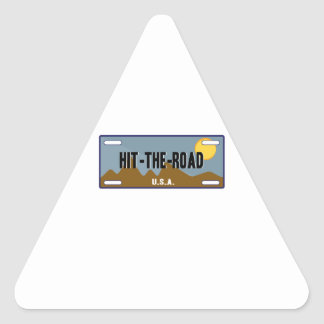 Hit The Road Triangle Sticker