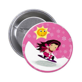 Hit The Slopes 2 Inch Round Button