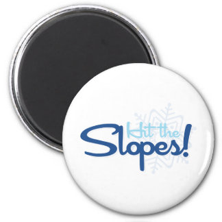 Hit the Slopes 2 Inch Round Magnet