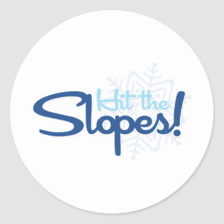 Hit the Slopes Classic Round Sticker