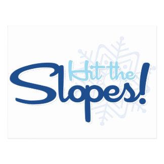 Hit the Slopes Postcard