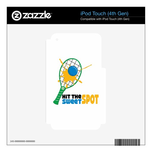 Hit The Sweet Spot iPod Touch 4G Decals