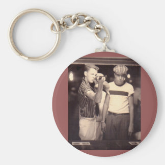 hit the target and win a kewpie doll keychain
