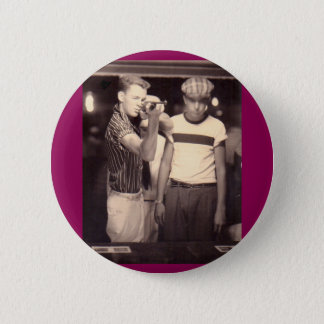 hit the target and win a kewpie doll pinback button