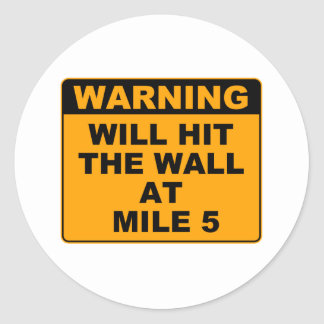 Hit the Wall Classic Round Sticker