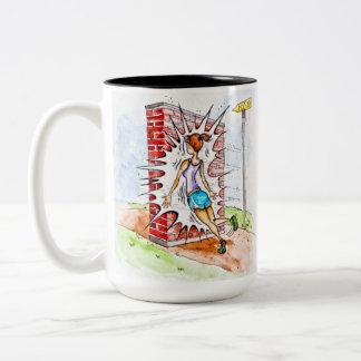 Hit The Wall Running Two-Tone Coffee Mug