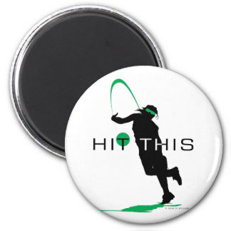 Hit This Green Pitcher Softball 2 Inch Round Magnet
