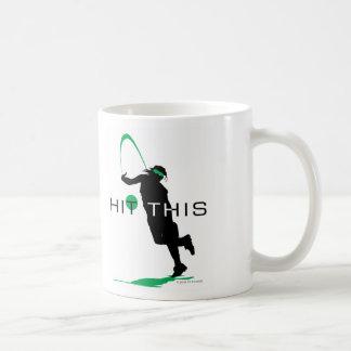 Hit This Green Pitcher Softball Coffee Mug
