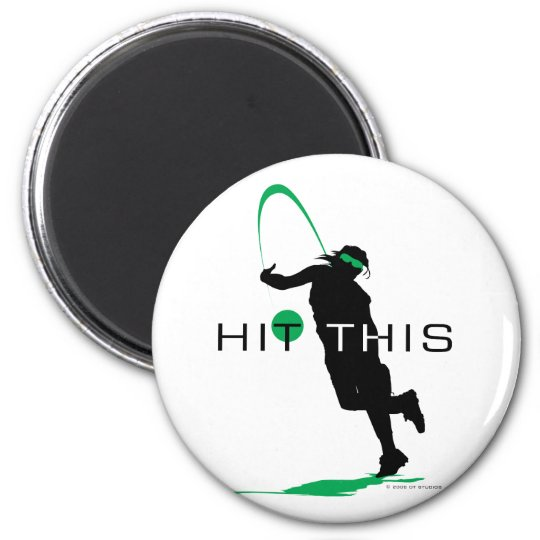 Hit This Green Pitcher Softball Magnet