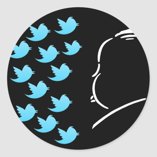 Hitch and Tweets Classic Round Sticker