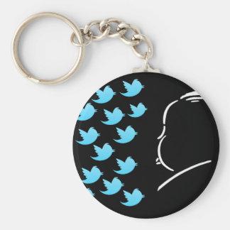 Hitch and Tweets Llavero Personalizado